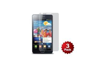 Screen Protector (3-Pack) w/ Cleaning Cloth for International/AT&T Samsung Galaxy SII™ - Transparent Finish