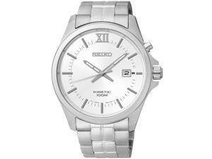 Seiko Kinetic White Watch SKA571P1
