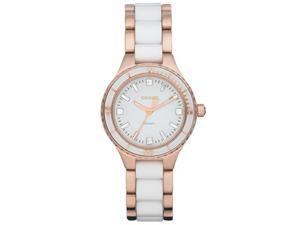 DKNY Rose Gold White Watch NY8500