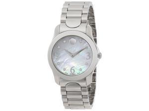 Movado Women's 606696 Moda White MOP Watch