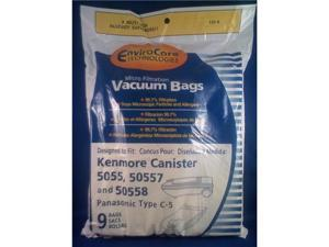 Envirocare Kenmore canister type C 5055,50557 and 50558 bags 9pk