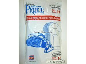 Royal / Dirt Devil Standard Paper Bags - 3pack - Prince Hand Vac - Type H Part# 3-050247-001