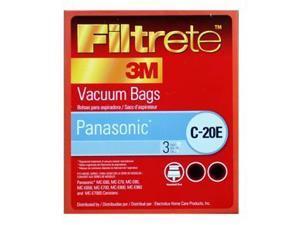 Panasonic C20E Canister Vacuum Allergen Filtrete Bags by 3M, Fits Part AMC94KYZ0. 3 pk.
