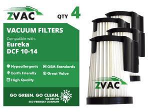 Eureka DCF10 / DCF14 ZVac HEPA Filters 62396 (4 Pack)