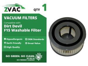 ZVac Dirt Devil F15 HEPA Filters 2 filters 3SS0150001 UPC 608939746657