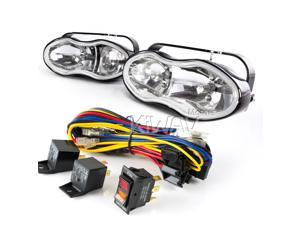 "Sirius NS-119 6"" wave dual fog & driving Lights Halogen Bulb H3 + wiring kit wk-007"
