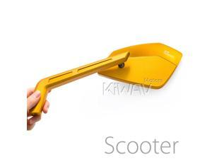 Magazi mirrors CNC aluminum sharp look Cleaver gold 8mm scooter motorcycle