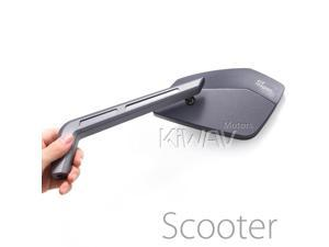 Magazi mirrors CNC aluminum sharp look Cleaver dark iron gray 8mm scooter motorcycle