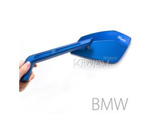 Magazi mirrors CNC aluminum Cleaver blue 10mm x 1.5 pitch for BMW motorcycle