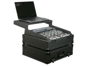 Odyssey FZGS10BL 19In Mixer Combo Case W/Platfor Single DJ Mixer Case