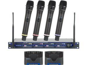 Vocopro UHF5805 Rechargeable Uhf 4Ch Wireless Mic UHF Handheld Wireless Mic System