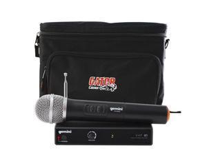 Gemini DJ VHF-01M Wireless Handheld Microphone w/ Gator Cases Bag