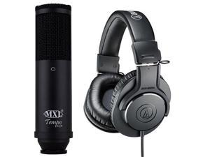 Audio Technica ATH-M20X w/ MXL Tempo XLR Microphone Pack