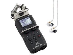 Zoom H5 Recorder w/ Shure SE215 Clear Earphones