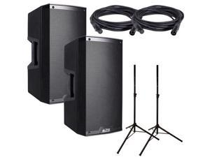 Alto TS212 Powered Speaker Bundle w/ Stands Cables