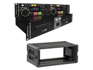 Denon DN-D4500MK2 Dual CD Player w/ SKB Rack Case
