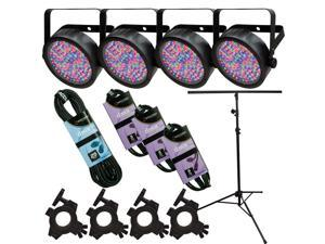 Chauvet SlimPAR 56 4 Pack with Light Stand