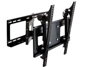 """Loctek PSW770 Full Motion Tilt Swivel Articulating 23""""-42"""" Flat Panel TV Wall Mount Bracket (Black)"""