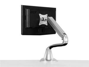 Loctek Silver DLB501 Full Motion Tilt Swivel Rotation Articulating Desktop Monitor Mount for LED/LCD/PDP Computer Monitor ...
