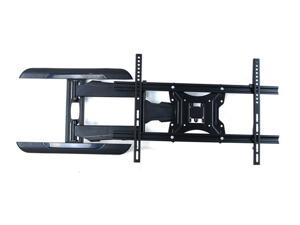 Homemounts HM103A Double Stud Steel Low Profile Articulating LCD LED TV Wall Mount Bracket for 37''-60'' TV - Black