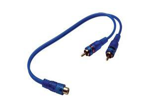 Absolute ABC-1F2M (BLUE) Y-Adapter 1F-2M ABC Series RCA Interconnect Audio Cables
