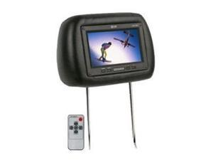 Absolute COM710IR 7.5-Inch TFT LCD Monitor Loaded in Black Leather Headrest with Built-in IR Transmitter