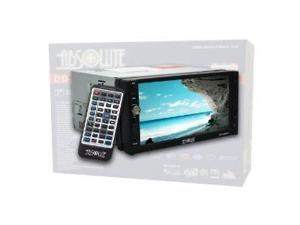 Absolute DD-3000BT 7-Inch Double Din Multimedia DVD Player Receiver with Touch Screen System Display and Detachable Front Panel Built-In Bluetooth