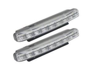 Absolute DRL8BW Universal DRL LED Slim Daytime Running Lamp with 8 Super White Bright Leds