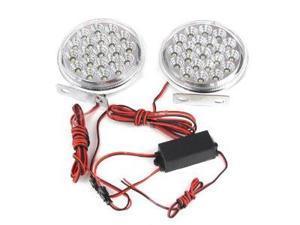 Absolute DRL21CW Round Shape 21 LED Spotlight Daytime Running Lights Kits