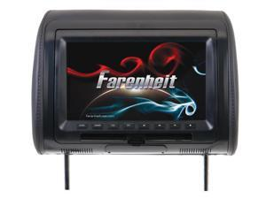 "Farenheit HRD-91CC Universal Replacement Headrest Preloaded w/ DVD Player & 9"" LCD"