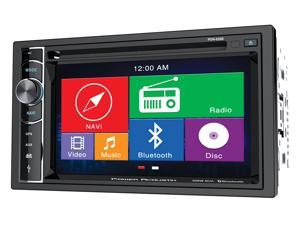 "Power Acoustik PDN-626B Double DIN In-Dash Navigation DVD/CD/AM/FM Receiver w/ 6.2"" Touchscreen, Bluetooth, and SD/USB Reader"