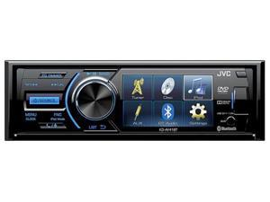 "JVC Single Din DVD Player w/3"" QVGA Display Bluetooth Detachable Faceplate Rear Camera Input KDAV41BT"