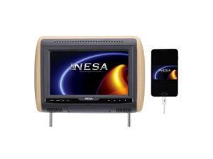 Nesa NPM-101HDPL10.3 Inch Preloaded Universal Headrest Monitor with built-in HDMI/USB/Mobile Hi-Definition Link 1080p Media Player (3-Interchangeable Skins: Beige/Black/Gray)