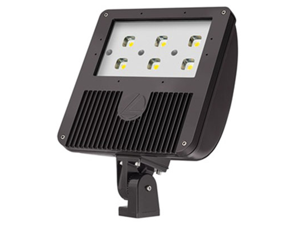 Lithonia DSXF3-LED-6-A530/40K-WFL-MVOLT-THK-DDBXD Size 3 LED Flood Luminaire, 6 COB Engines, 4000K, Wide Flood, Dark Bronze