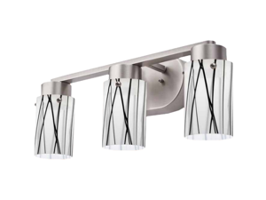 Lithonia MWV-C-3-BNP-M4 LED Vanity, Cylinder, 3-Light, Polished Brushed Nickel (Glass not included)