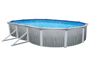 "Martinique Steel Above-Ground Swimming Pool "" 18'x33' Oval and 52'' Deep"