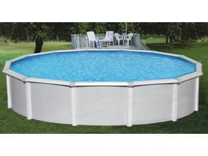 """Samoan 21' Round 52"""" Steel Above Ground Swimming Pool With 8"""" Toprail"""