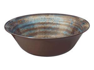"""Merritt International Melamine Glazed Brown Swirl Round Bowl 11.5"""""""