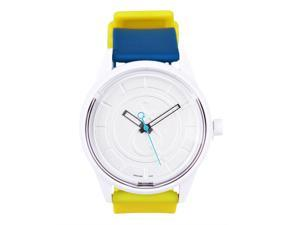 Solar Casual Watch Eco-Drive White Dial Colored Strap 50 M Water Resistant by Tic Fashion