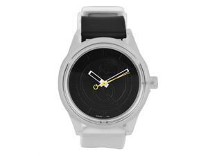 Solar Casual Watch Eco-Drive Black Dial White and Black Strap 50 M Water Resistant by Tic Fashion