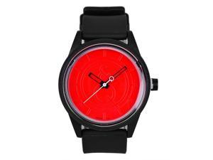Solar Casual Watch Eco-Drive Red Dial Black Strap 50 M Water Resistant by Tic Fashion