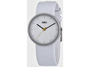 Braun Ladies White Leather Strap Analog Watch BN0021WHWHL