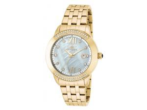 Invicta Women's Angel Crystal Accented Gold Plated Stainless Steel Watch 20313