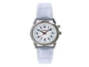 Kenneth Cole Unlisted Men's Silver Tone Brass White Leather Watch UL10018958