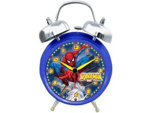 Marvel Spiderman Themed Twin Bell Analog Quartz Alarm Clock SMC100TB