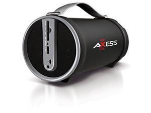 Axess Bluetooth SD Card/AUX/FM Inputs 2.1 Hi-Fi Grey Cylinder Speaker SPBT1033GY