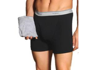 Fruit Of The Loom 2 Pack Black/Gray Trunk (X-Large) TR7601