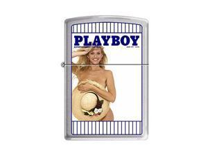 "Zippo ""Playboy Cover-June 1991"" Brushed Chrome Lighter, 4761"