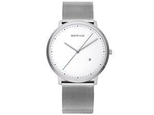 Bering Unisex Analog Shiny Milanese Silver Quartz Watch 11139-004