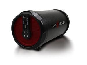 "Axess Rechargeable Bluetooth 3"" Subwoofer 2.1 Hi-Fi Cylinder Speaker SPBT1030-RD"